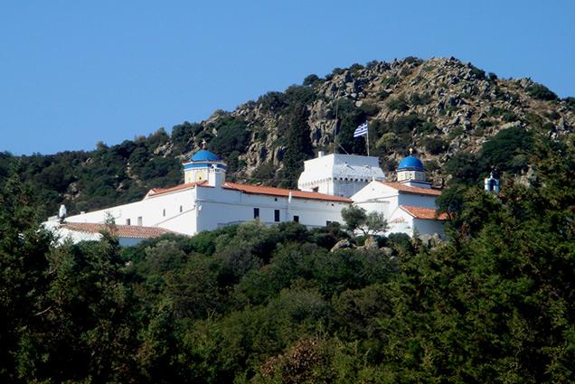 Monastery of Panagia Chryssoleontissa, Aegina. Photo source: aeginagreece.com