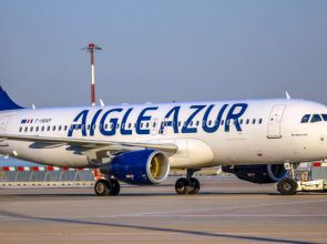 Aigle Azur Airplane in Airport