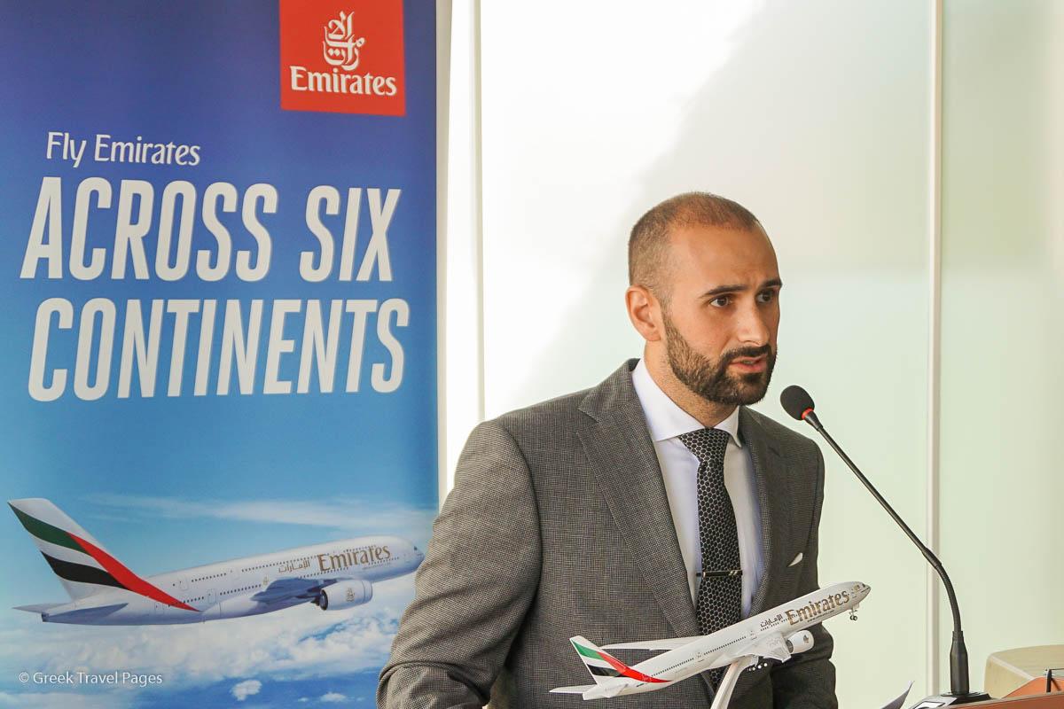 Khalid Al Zarooni, Emirates Area Manager for Greece and Albania.