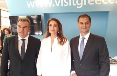 Tourism Deputy Minister Manos Konsolas, GNTO President Angela Gerekou, Greek Minister of Tourism Harry Theoharis