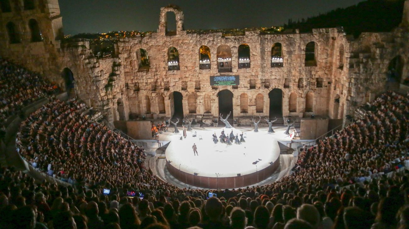 The Herod Atticus Odeon in Athens.