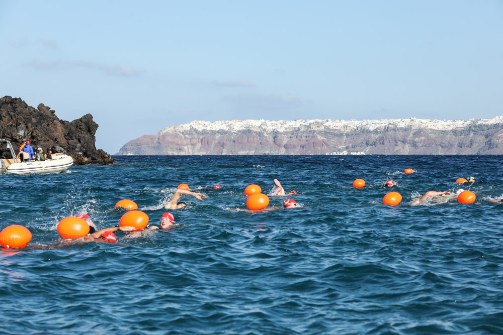Open water swimming Santorini Experience
