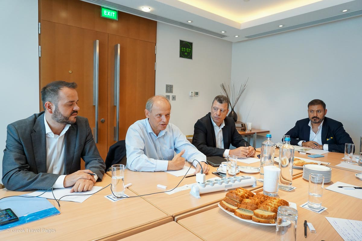 Evangelos Georgiou, TUI Senior Manager Media Relations International Markets; Sebastian Ebel, TUI Chief Operating Officer; George Dimas, TUI Head of Region South & West Greece; Dimitris Nikolaides, Atlantica Hotels & Resorts Joint CEO.