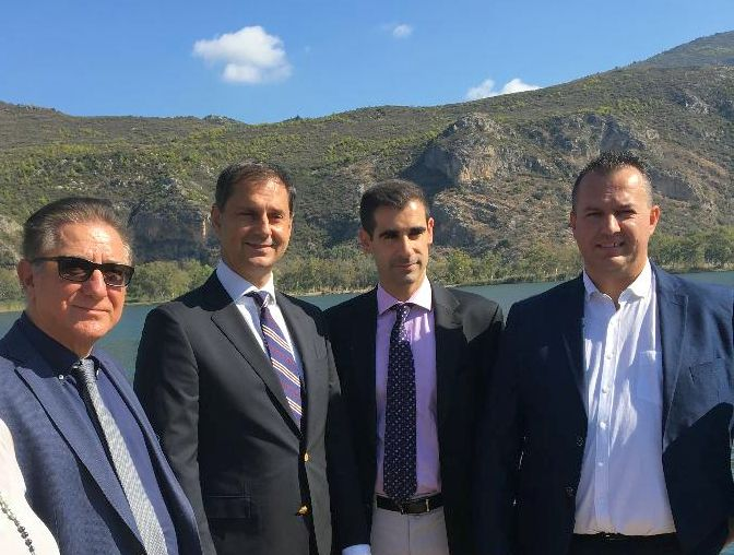 Greek Tourism Minister Harry Theoharis (second left) during his official visit to the prefecture of Ilia.