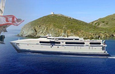 Fast Ferries' new high-speed passenger ship, Thunder.