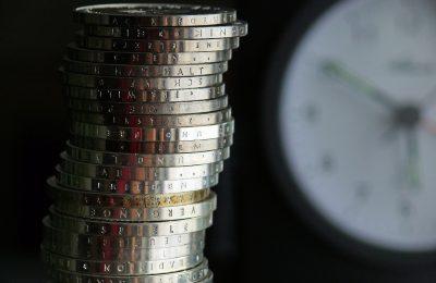 euros coins clock