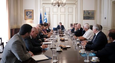 Kyriakos Mitsotakis present at SETE's board meeting