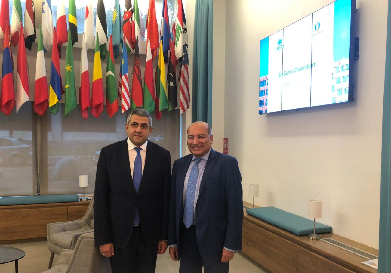 UNWTO Secretary-General Zurab Pololikashvili and EBRD President Suma Chakrabarti.