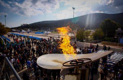Η φλόγα του Μαραθωνίου. Πηγή: https://www.facebook.com/athensauthenticmarathon
