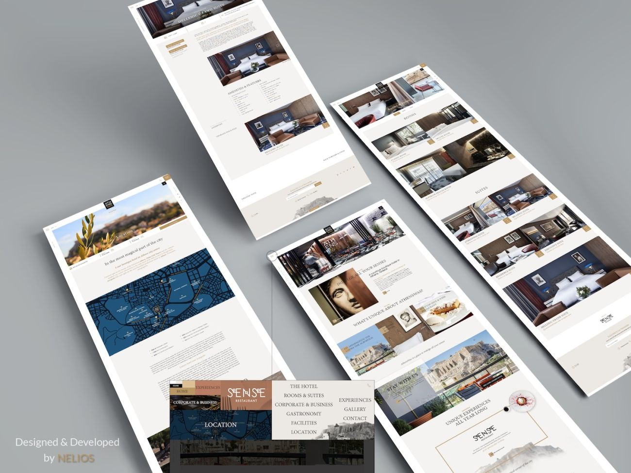 A tailor made hotel website designed by Nelios.