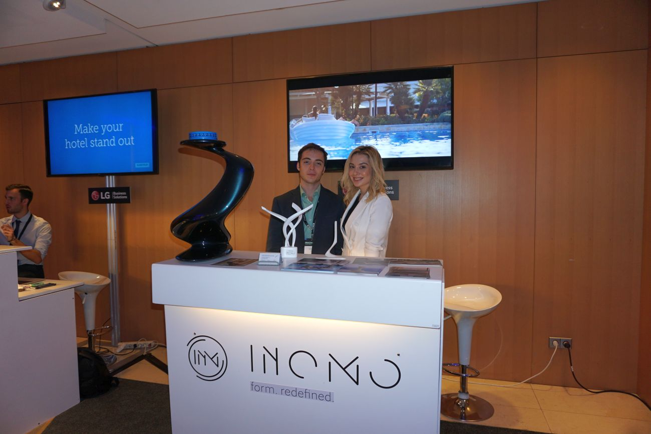 "INOMO, a company offering tailor-made furniture to 5-star hotels, was one of the company's in SETE's ""Tech Alley"". Pictured is INOMO's founder, Vivian Paraschou."