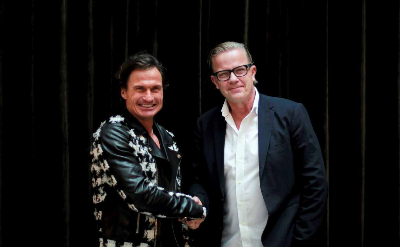 Petter Stordalen, owner of Strawberry Group, and Ving Group CEO Magnus Wikner. Photo source: Ving Group