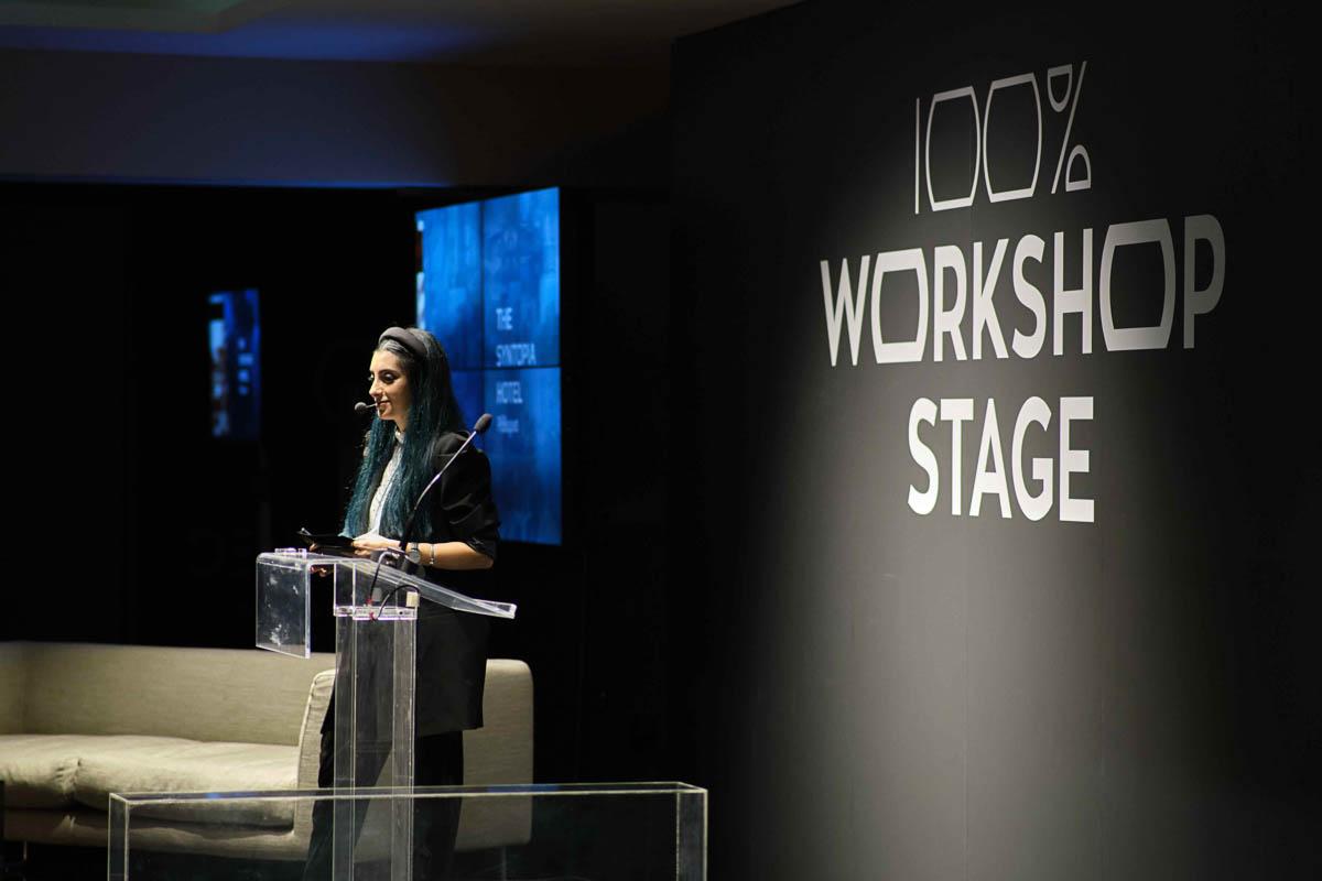 Η Φωτεινή Αριστακερσιάν, δημοφιλής YouTuber, παρουσίασε την τελετή απονομής των 100% Hotel Design Awards 2019.