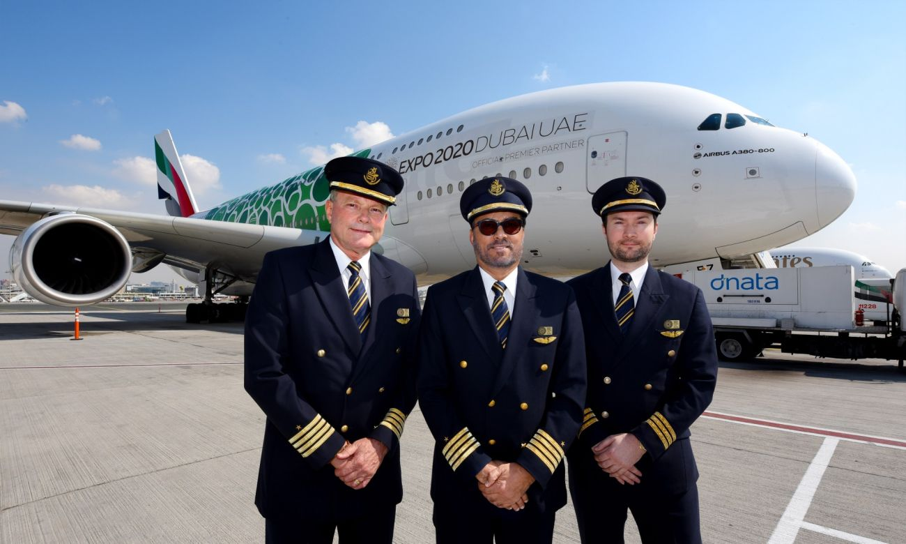 The Emirates A380 was operated by Captain Abbas Shaban and Captain Patrick De-Roeck, supported by First Officer Colin Campbell.