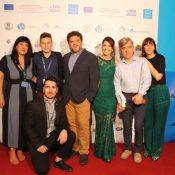 Amorgos Festival Team, Vairis Strazds & his wife Santa Oborenko