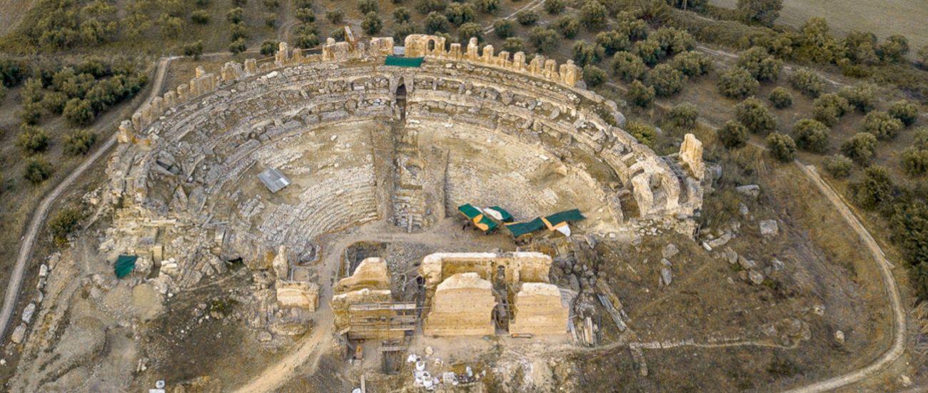 Ancient theater of Nikopolis, Regional Unit of Preveza.