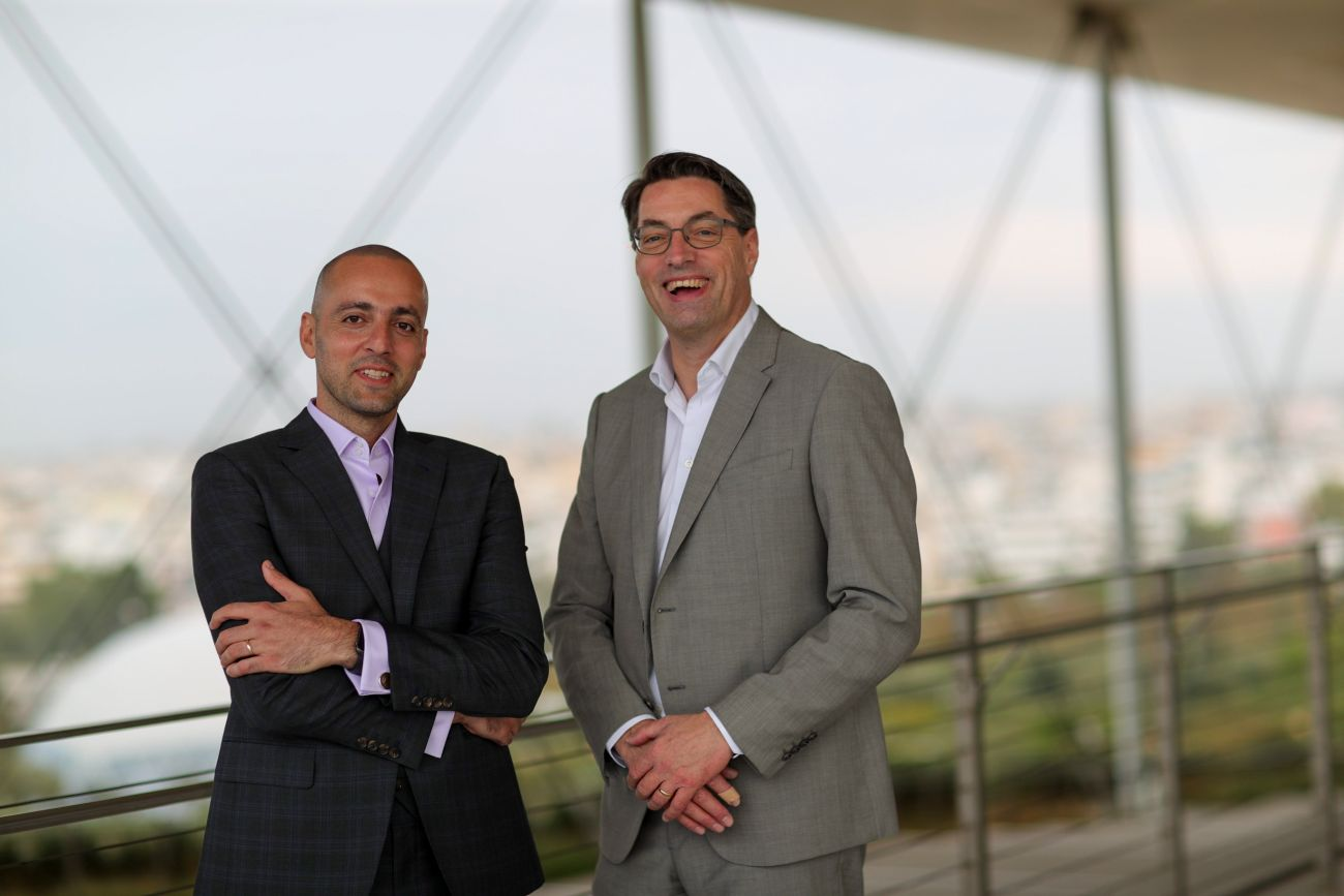 Radisson's Elie Milky, VP for Development for the markets of the Middle East, Cyprus and Greece, withJoep Peeters, Senior Vice President, Franchise.