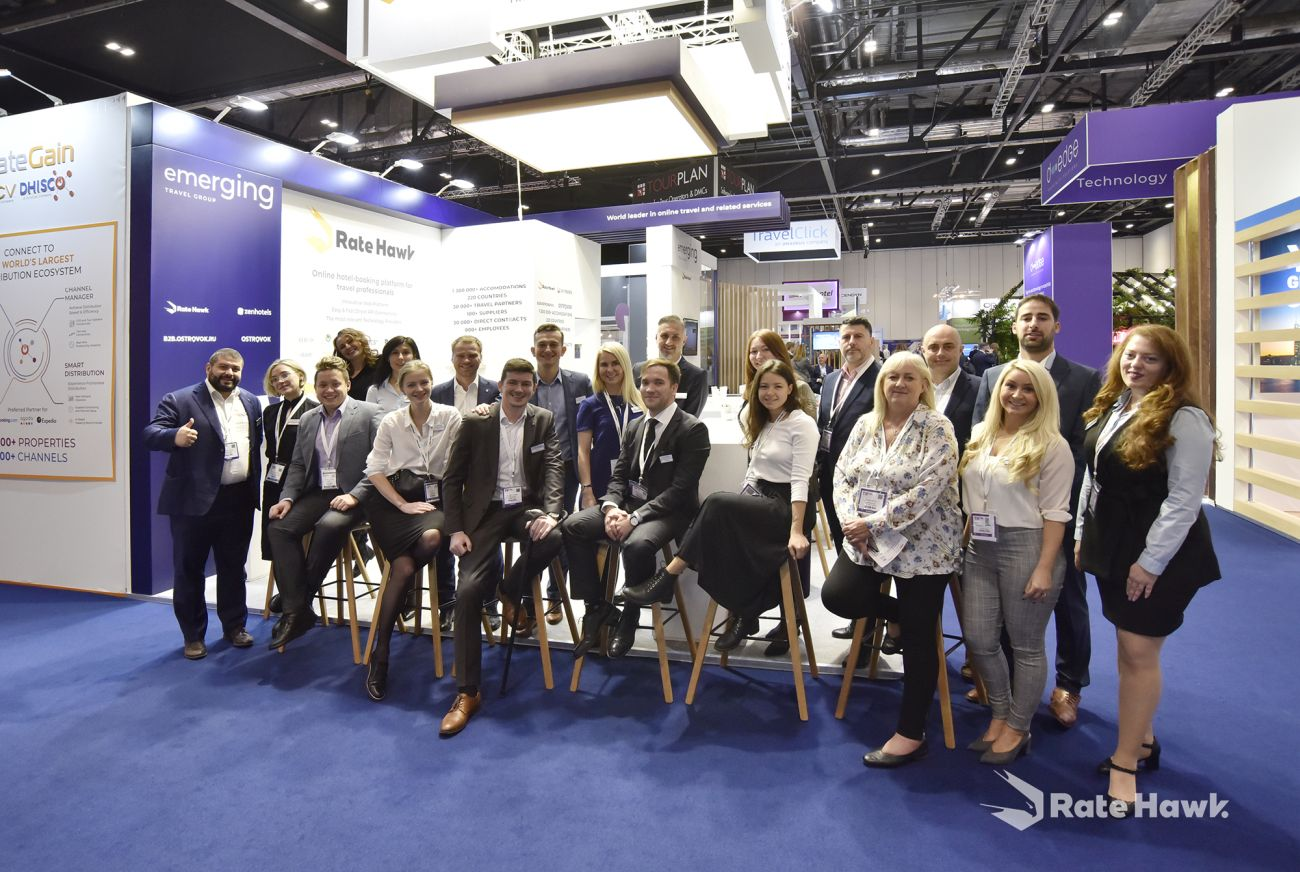 The RateHawk team at the World Travel Market (WTM) 2019 in London.