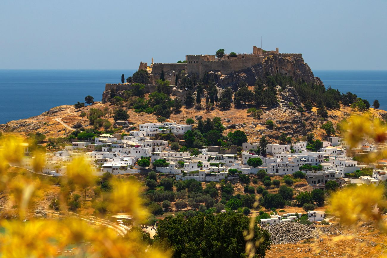Lindos town, Rhodes, Dodecanese islands.
