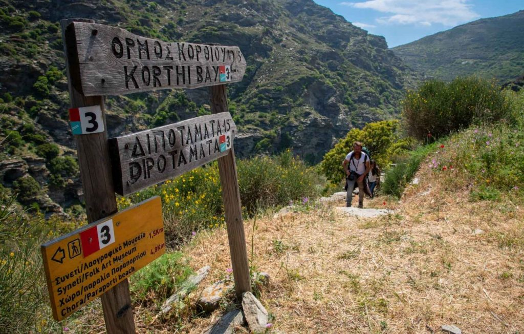 Andros trails. Photo source: VML Travel / © George Vergados