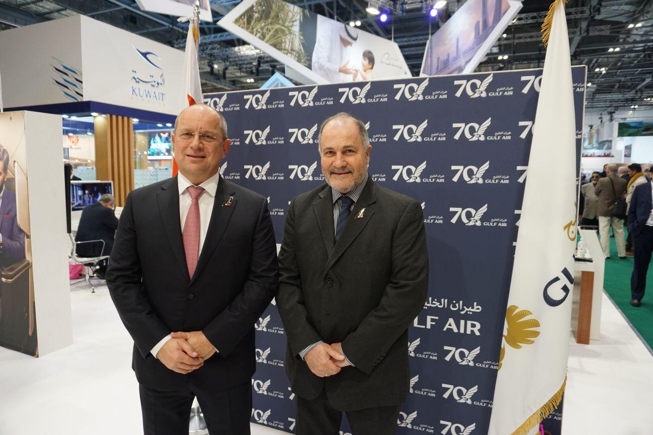 Gulf Air CEO Krešimir Kučko and Gold Star Aviation General Director Michael Flerianos. Photo © GTP