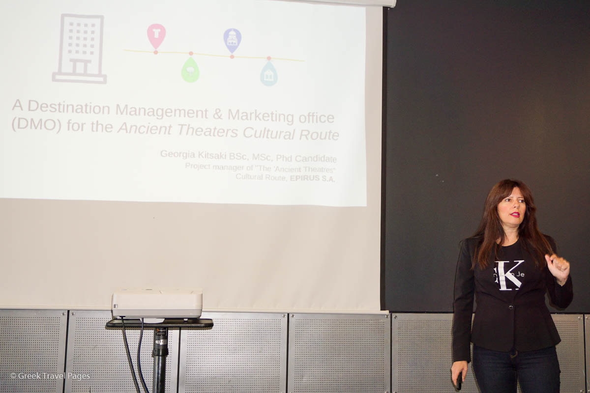 """Georgia Kitsaki, the project manager of the """"Cultural Route of the Ancient Theatres of Epirus""""."""