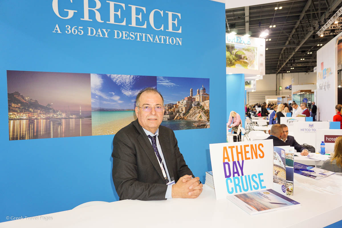 Athens Day Cruise Sales Manager John Kounoupiotis.