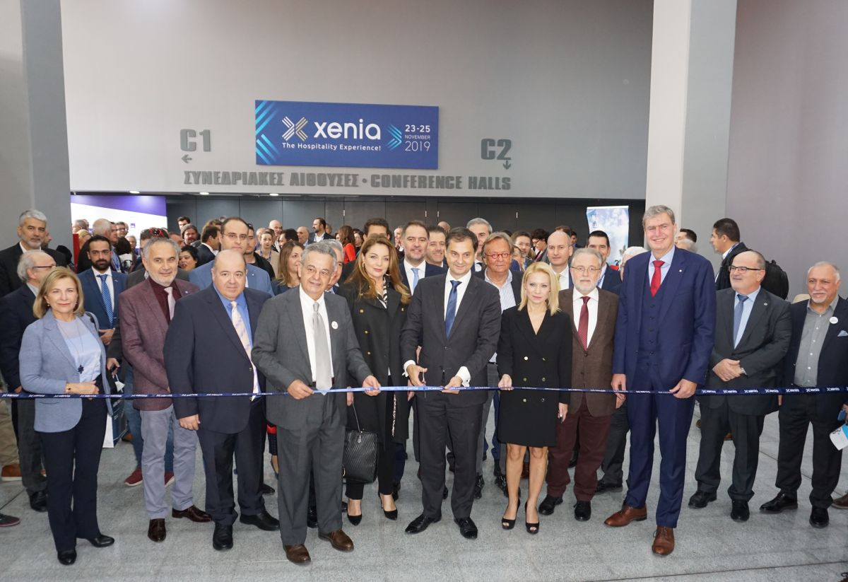The Xenia 2019 hospitality expo was inaugurated by Greek Tourism Minister Harry Theoharis.