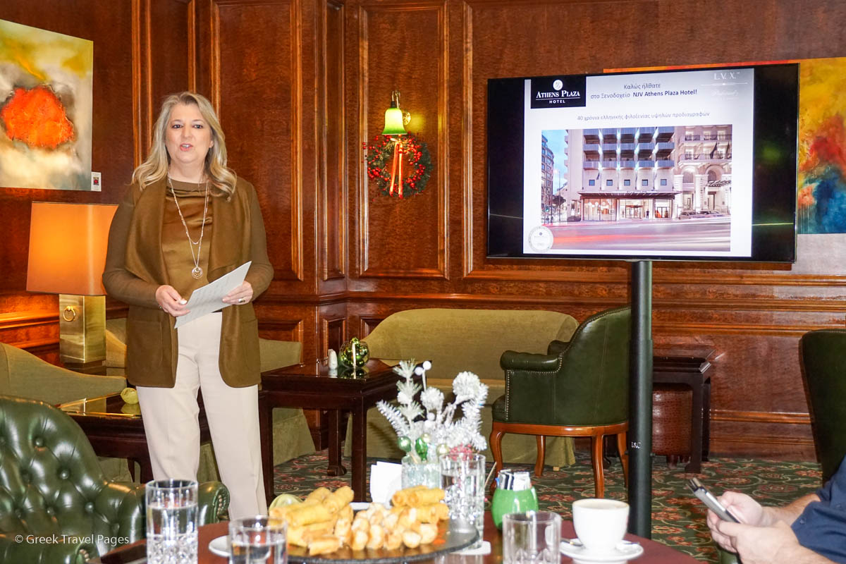NJV Athens Plaza General Manager Vana Lazarakou.