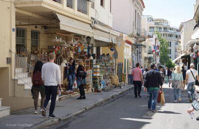 Athens, shops