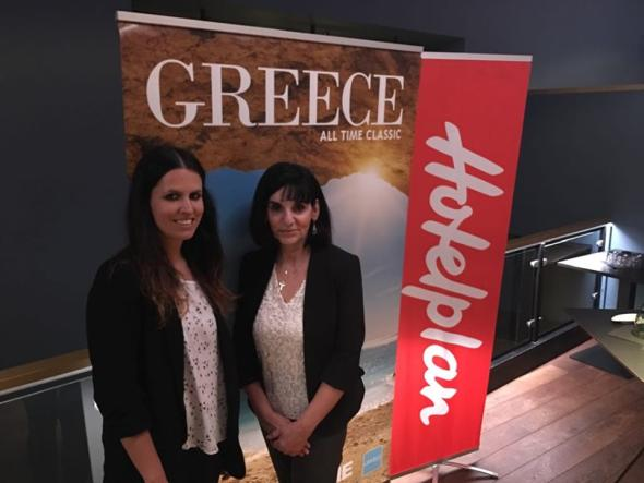 Hotelplan Product Manager Victoria Studer and GNTO head for Austria, Eleni Melita.