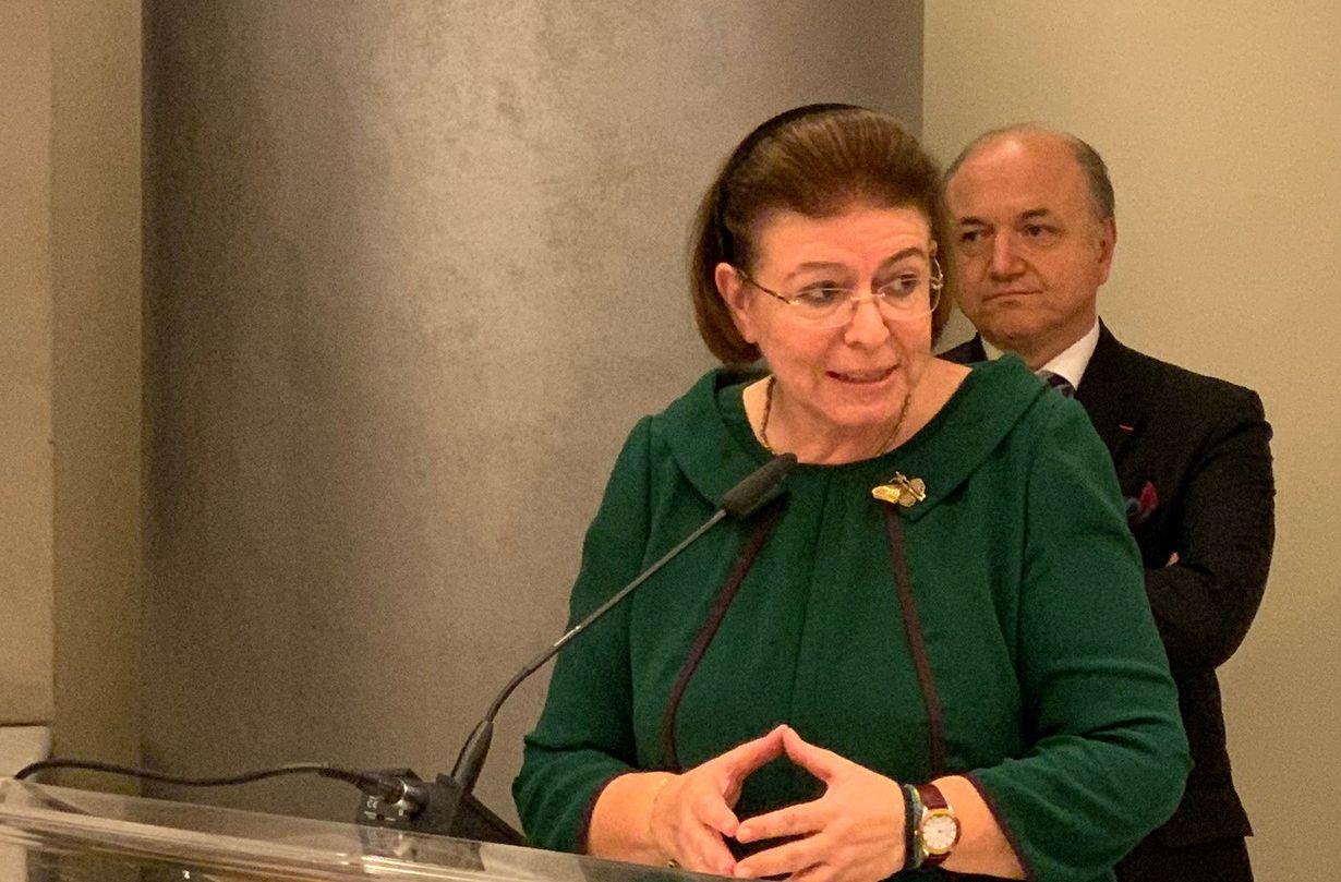 Greek Culture Minister Lina Mendoni.