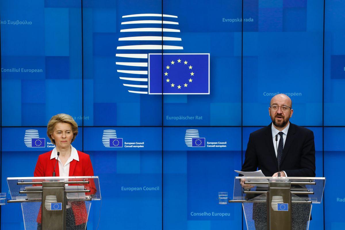 European Commission President Ursula von der Leyen and European Council President Charles Michel.