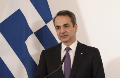Greek Prime Minister Kyriakos Mitsotakis. Photo source: @PrimeministerGR