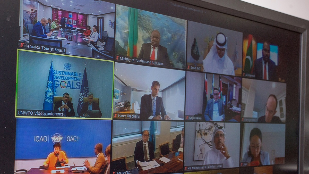 UNWTO held a virtual meeting for world tourism leaders. Photo Source: UNWTO
