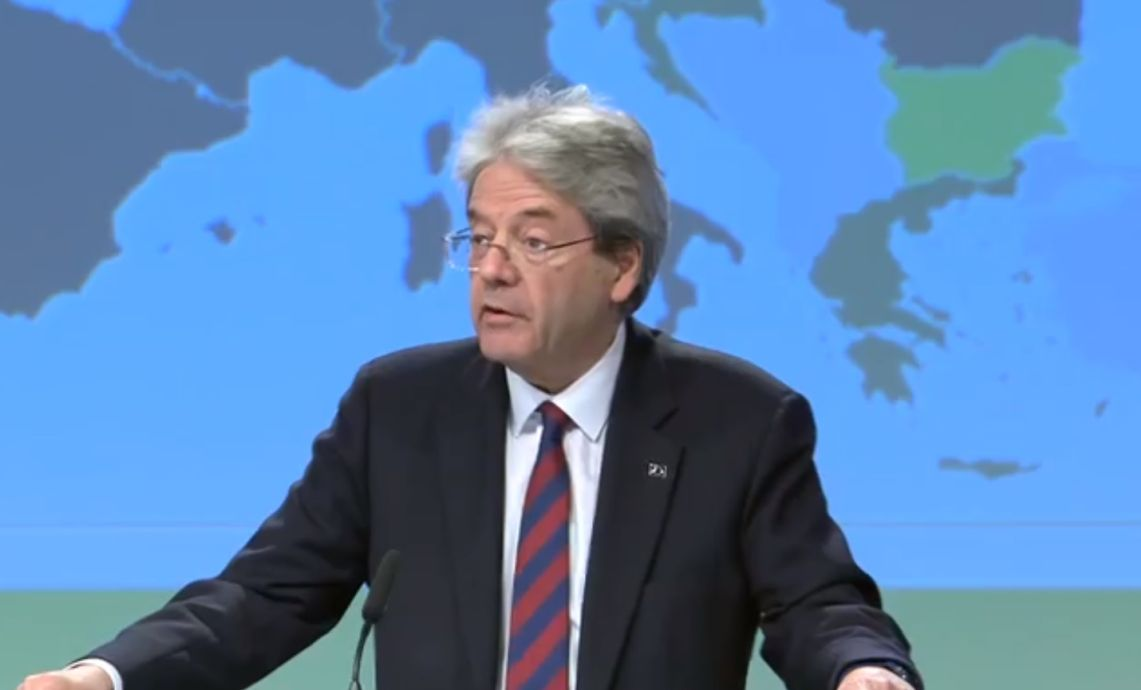 Paolo Gentiloni, European Commissioner for the Economy.