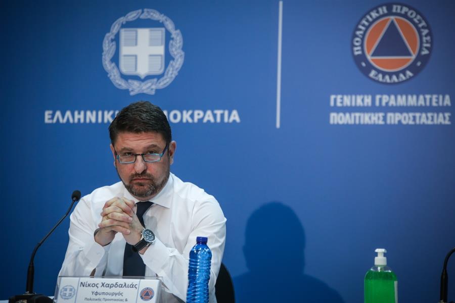 Deputy Civil Protection and Crisis ManagementMinister Nikos Hardalias.