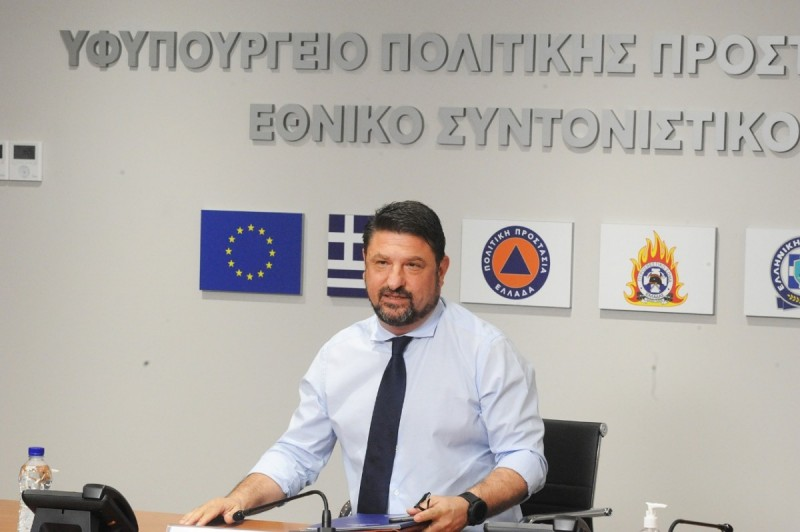 Greek Deputy Minister for Civil Protection and Crisis Management, Nikos Hardalias.