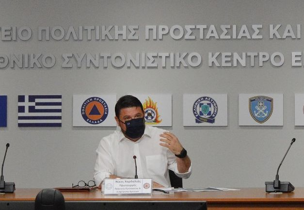 Greek Deputy Minister for Civil Protection and Crisis Management Nikos Hardalias.