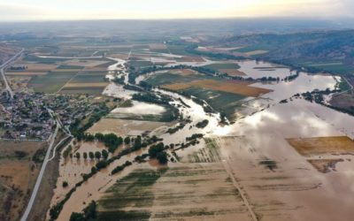 Floods in Central Greece. Photo source: General Secretariat for Civil Protection