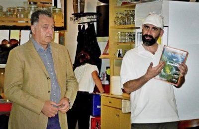 Alpha Marketing Managing Director Tasos Gousios and We Productions Founder Iraklis Kalamenios.