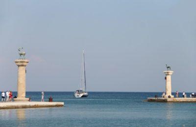 Mandraki harbour, Rhodes.