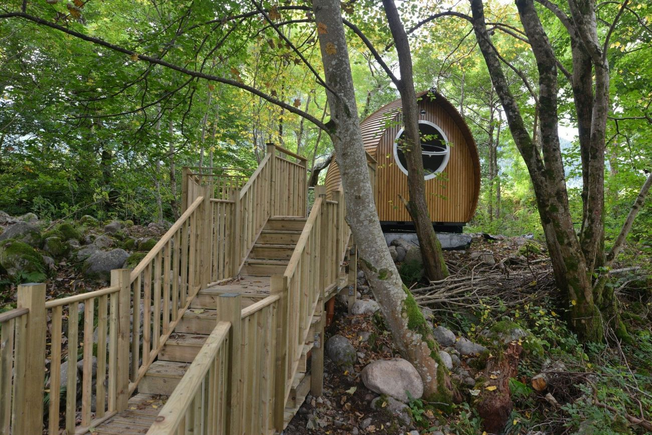 An example of a structure qualified as a glamping accommodation.