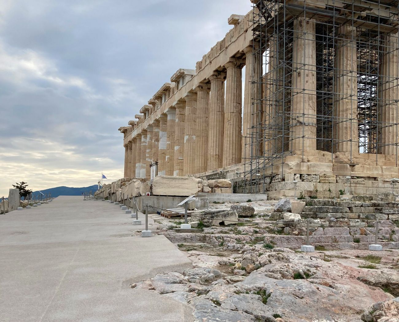 A new pathway leading to the Parthenon.