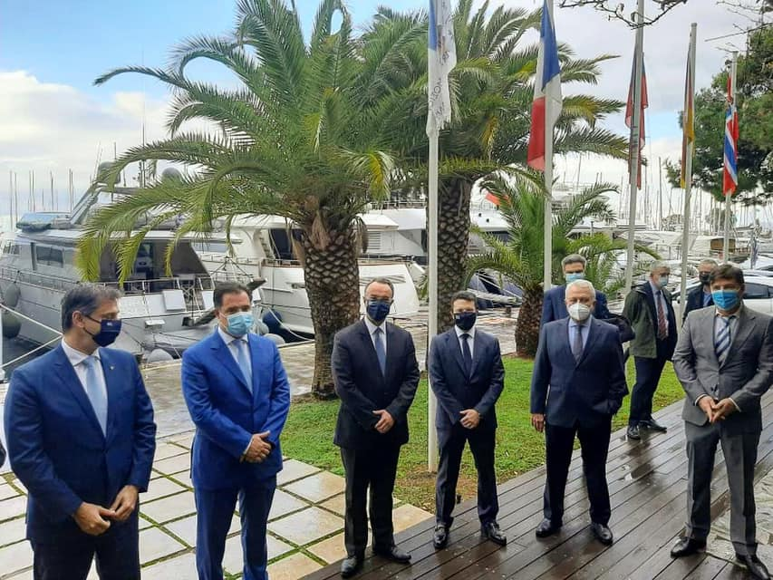The handover ceremony of the Alimos Marina. Photo source: @cstaikouras.gr