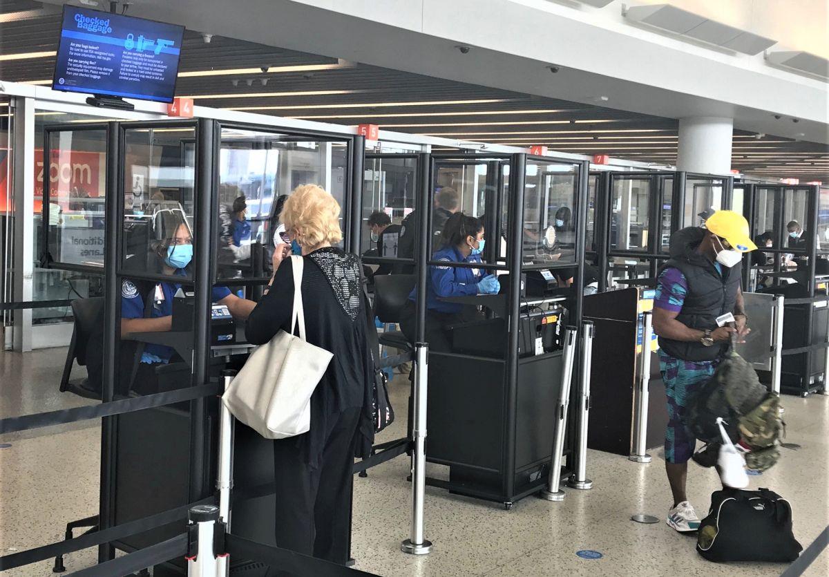 TSA security checkpoint at JFK International Airport in New York. Photo source: tsa.gov
