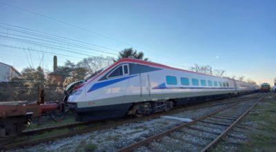 The ETR470 Pendolino train on its way to Greece. Photo source: Alstom