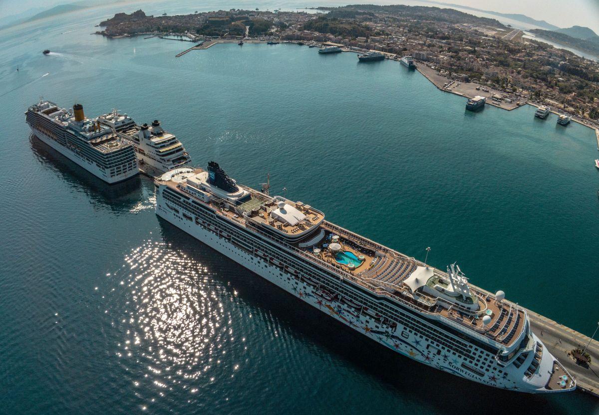 the port of Corfu, Greece. Photo source: CLIA