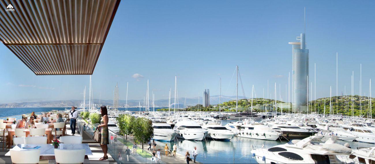Hellinikon project: Impression of the marina.