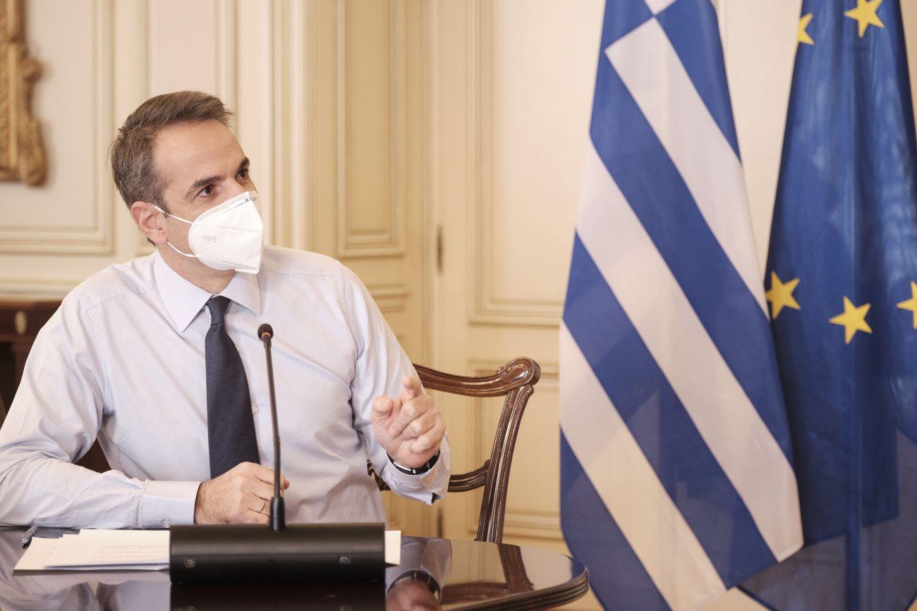Greek Prime Minister Kyriakos Mitsotakis. Photo source: @PrimeministerGR